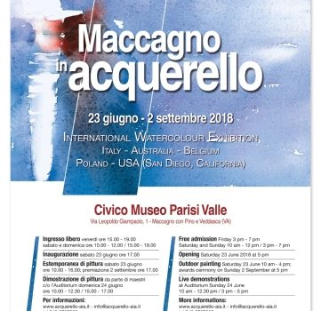 Watercolor Exhibition near Milan 2018