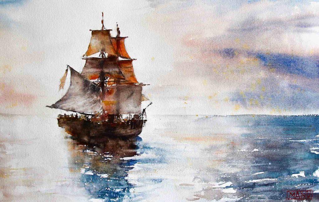 Emmanuele Cammarano Acquerellista - watercolor artist watercolor paintings - watercolorist and tutor - demo tutorial