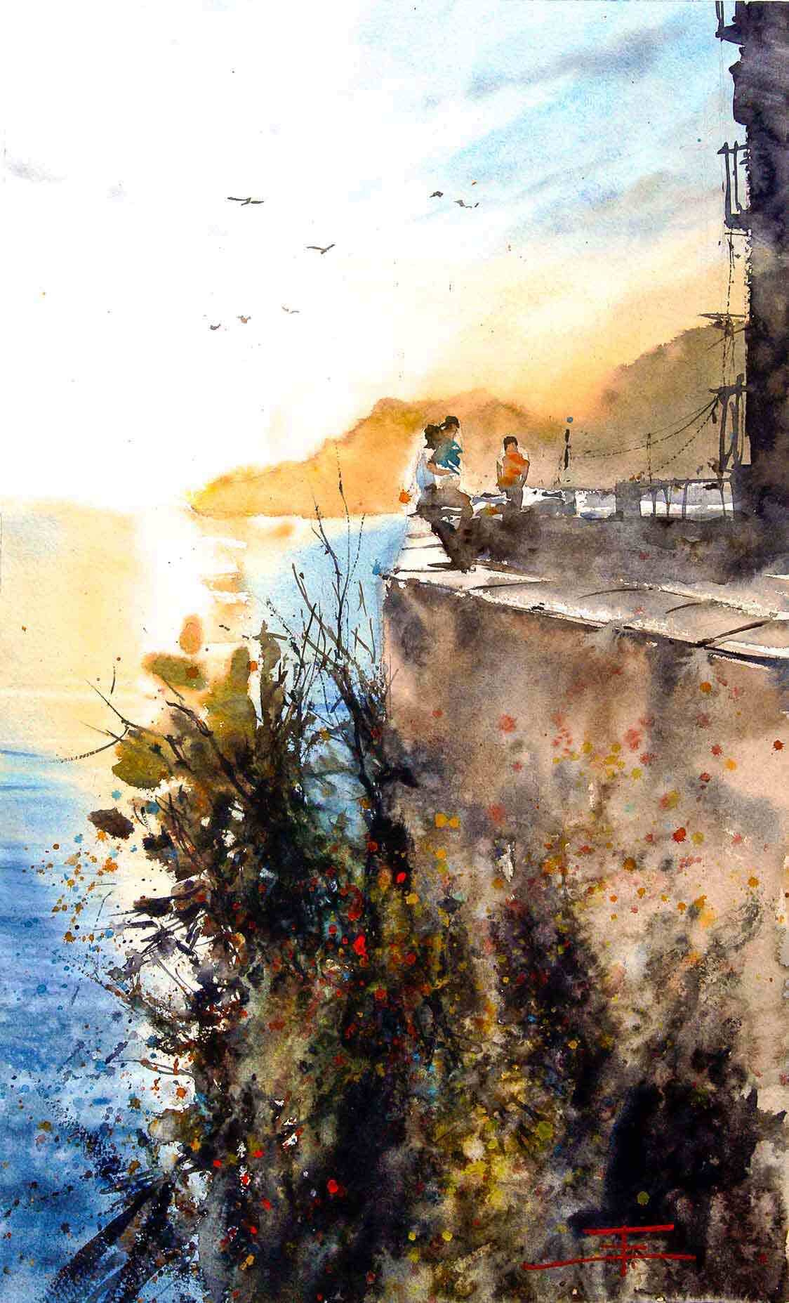 Emmanuele Cammarano Acquerellista - watercolor artist watercolor paintings - watercolorist and tutor - demo tutorial