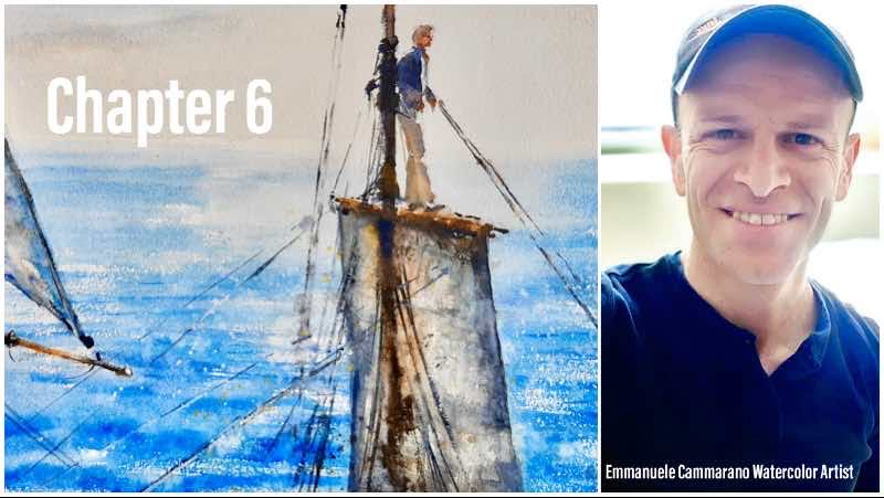demo video serie barche a vela Emmanuele Cammarano Acquerellista