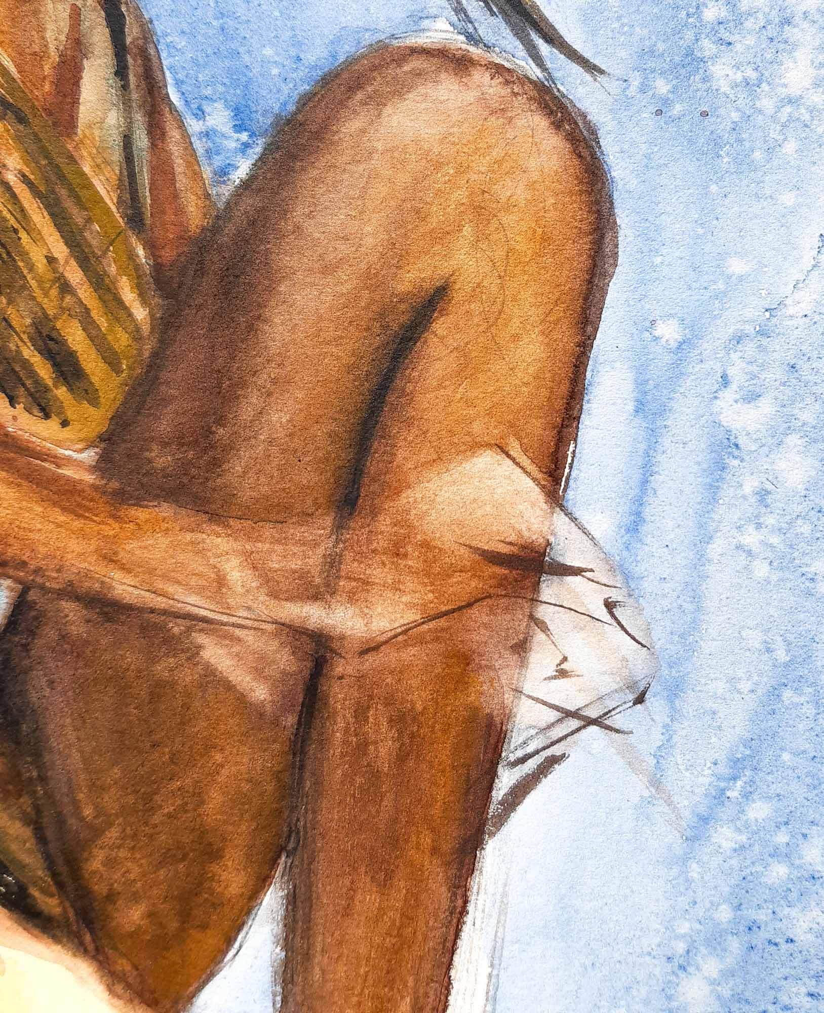 Girl series - acquerello Emmanuele Cammarano Fine Artist