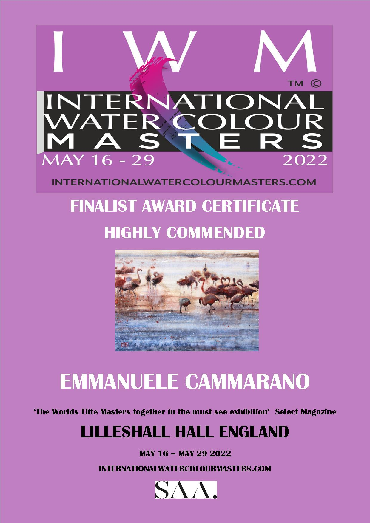 Finalist International Watercolour Masters Contest Exhibition 2022