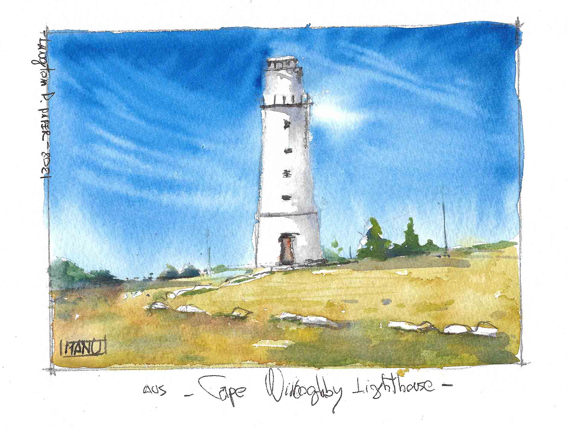 Cape Willoughby Australia Aquarelle Watercolour Emmanuele Cammarano fine artist