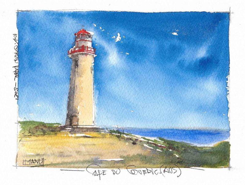 Cape du Couedic Australia Aquarelle Watercolour Emmanuele Cammarano fine artist