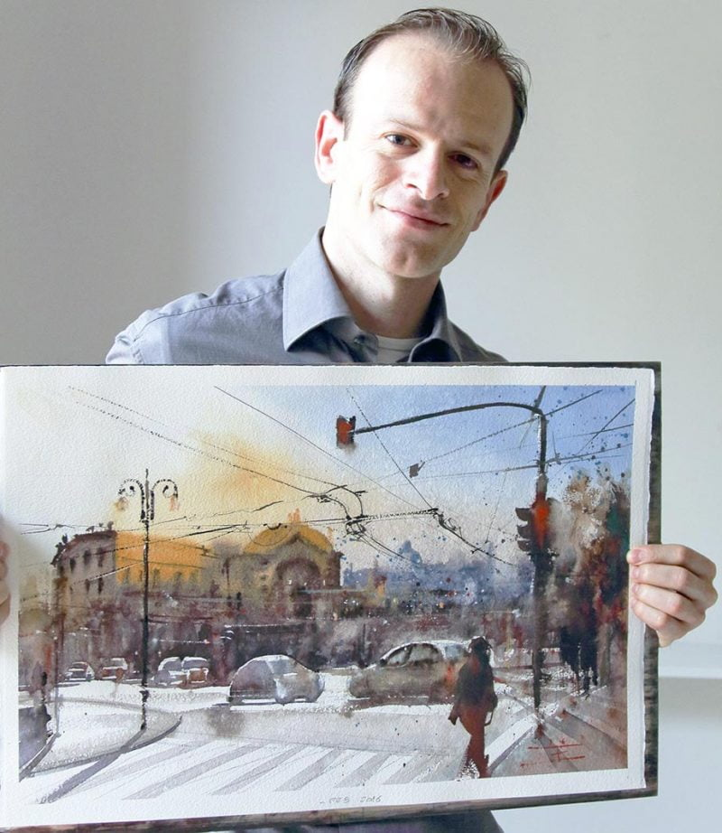 Emmanuele Cammarano fine artist acquerello winner award